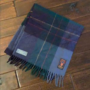 100% Cashmere Plaid Scarf made in West Germany